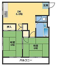 コペル横塚[2階]の間取り