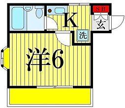 ファミール堀切B棟[101(2F)号室]の間取り