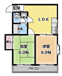 川島第16ビル[2階]の間取り