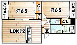 アヴァンティ高見MⅡ[3階]の間取り
