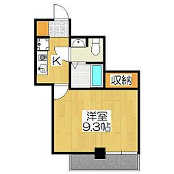おおきに出町柳サニーアパートメント(S−CREA出町柳)[301号室]の間取り