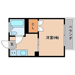 静岡県静岡市清水区中之郷の賃貸アパートの間取り