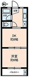 エコーマンション[302号室]の間取り