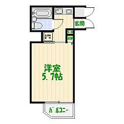 コスモ亀有V[15階]の間取り
