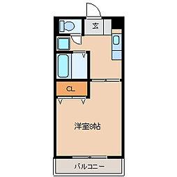 GARDEN−ONE[3B号室]の間取り