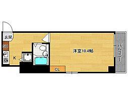 京都府京都市右京区西院三蔵町の賃貸マンションの間取り
