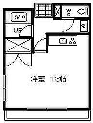 コスモ京塚[201号室]の間取り