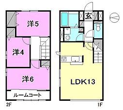 [テラスハウス] 愛媛県松山市竹原4丁目 の賃貸【/】の間取り