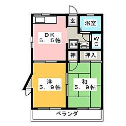 ソフィアSK[2階]の間取り