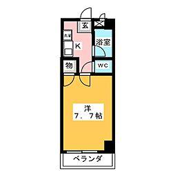 ア−バンK2[1階]の間取り