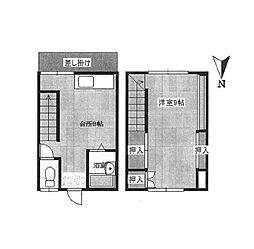 西村アパート K[3号室]の間取り
