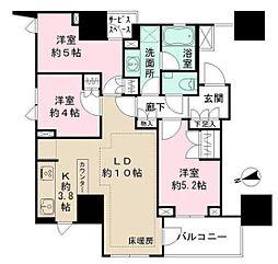 ザパークハウス上野レジデンス[701号室]の間取り