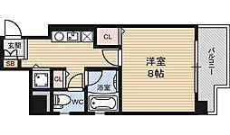 シャルマン新大阪[6階]の間取り
