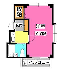 ルフティーニ所沢[3階]の間取り