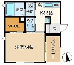 (仮称)越谷市千間台東シャーメゾン 102[1階]の間取り