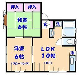 千葉県船橋市日の出2丁目の賃貸アパートの間取り