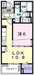 横浜市営地下鉄ブルーライン 上永谷駅 徒歩20分の賃貸マンション 2階1LDKの間取り