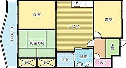 アクセス赤坂[301号室]の間取り