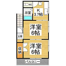 ビラージュ吉田[2階]の間取り