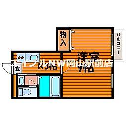 サンコートミヤケ[2階]の間取り