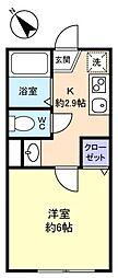 ミラベル大和田[1階]の間取り