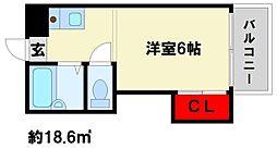 パシフィック白木原[406号室]の間取り