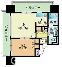 RJR PRECIA 吉塚駅前[2階]の間取り