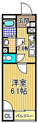 クレイノユニバーサルパレス[1階]の間取り