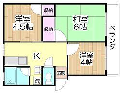 櫻シティB棟[2階]の間取り