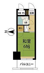 ホワイトプラザ湯沢フォーレ2 2階1Kの間取り