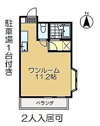 スキップハイツ[2階]の間取り