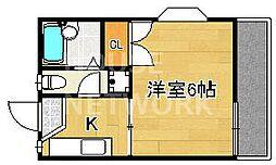 タウニィ多田[202号室号室]の間取り