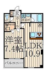 東京都中野区中央4丁目の賃貸マンションの間取り