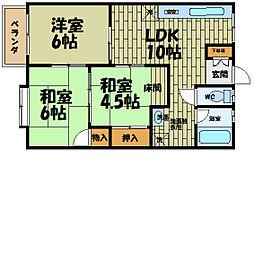 [タウンハウス] 大阪府大阪市西淀川区中島1丁目 の賃貸【/】の間取り