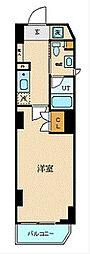 JR東海道本線 横浜駅 徒歩5分の賃貸マンション 7階1Kの間取り