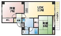 フレックスマンション[2階]の間取り