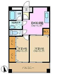 フォルトネート・Kカナモ[3階]の間取り