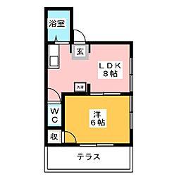 シティハイツ坂巻[1階]の間取り