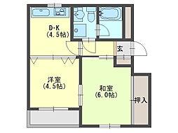 吉原マンション[3階]の間取り
