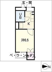 レオパレスRX豊田本町[4階]の間取り