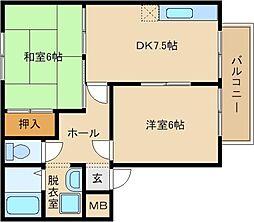 コーポMIKI[2階]の間取り