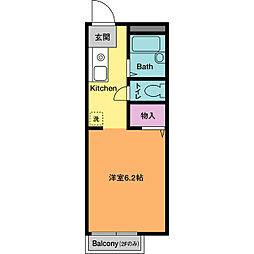 ドミールHASE B[1階]の間取り