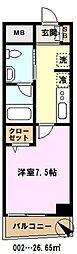 埼玉県川口市並木2丁目の賃貸マンションの間取り