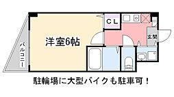 スカーラ津田沼[106号室]の間取り