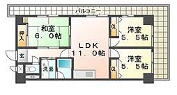兵庫県尼崎市杭瀬本町3丁目の賃貸マンションの間取り