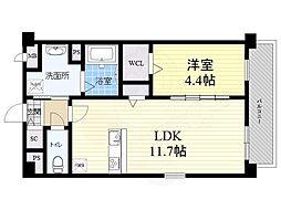 JR東海道・山陽本線 甲子園口駅 徒歩15分の賃貸マンション 1階1LDKの間取り
