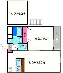 ルナコート[2階]の間取り