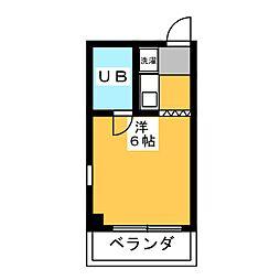 三幸エステート東山[3階]の間取り