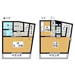 グランヒル台原II[1階]の間取り