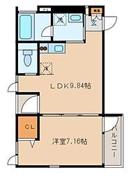 アドレー渋谷本町アネックス[3階]の間取り